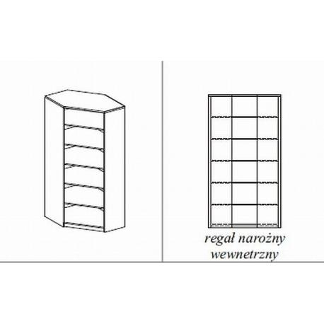 Regał sklepowy narożny wewn. 90x90x200