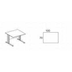Biurko proste z osłoną