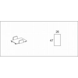 Półka pod jednostkę PC z płyty