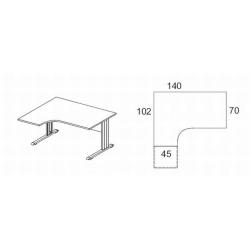 Biurko kątowe z osłoną